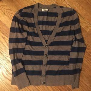 Old Navy V-Neck Stripe Cardigan Size L